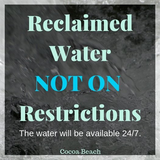 Reclaimed water off restrictions