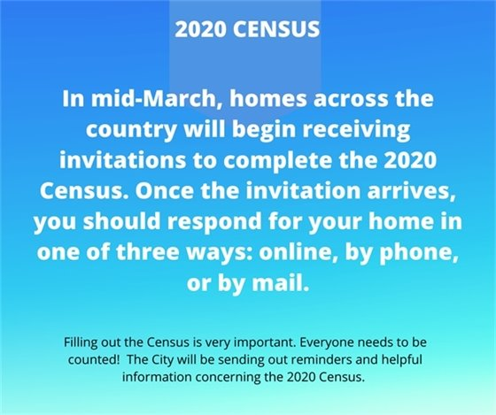 Census information arriving Mid-March please fill out