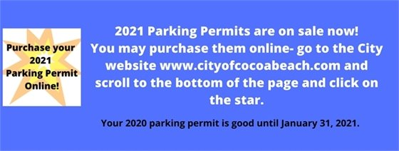 PARKING PERMITS 2021 ON SALE