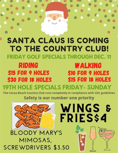 Golf and 19th Hole specials