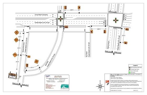 Diagram road closure