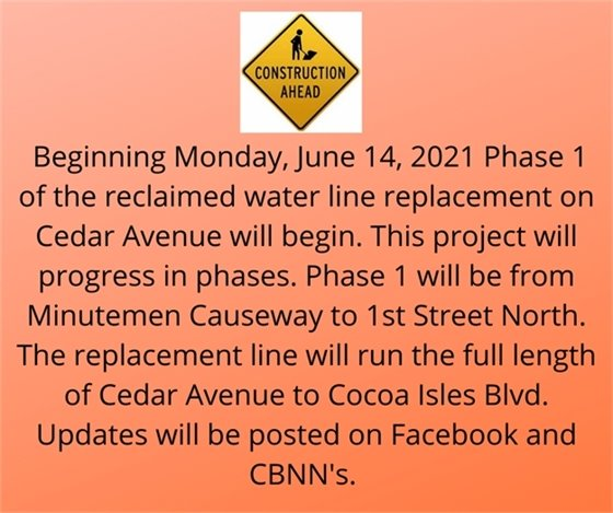 Reminder for project on Cedar