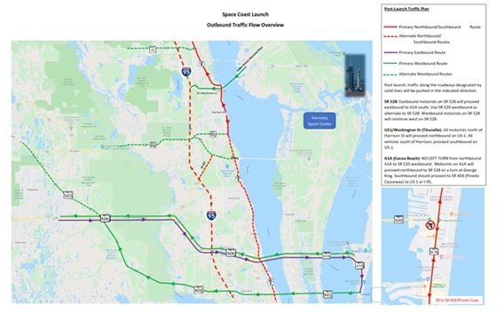 FDOT Traffic plan for Launch