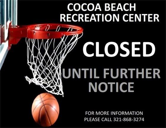 Rec Center closed until further notice