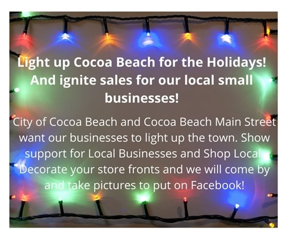 Light up Cocoa Beach