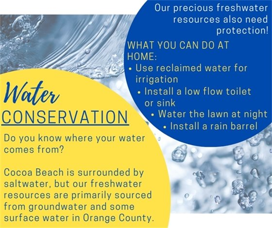 Water Conservation Graphic: Content on page