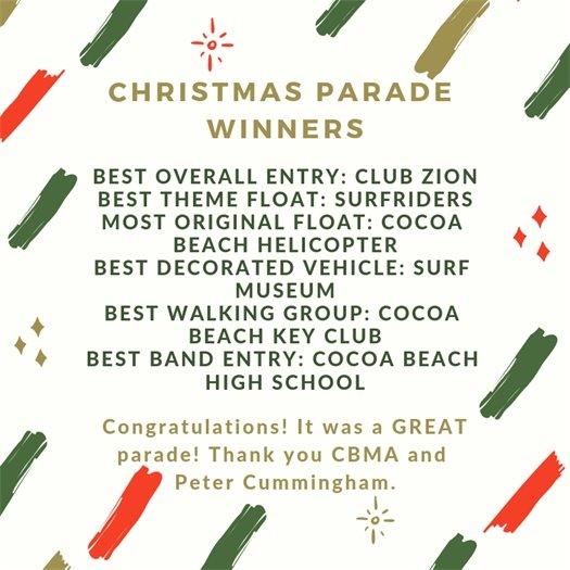 Parade Winners
