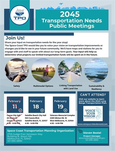 TPO Transportation Meetings
