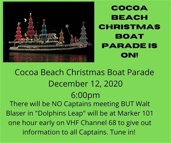 Christmas Boat Parade is sponsored by the Rotary of Cocoa Beach