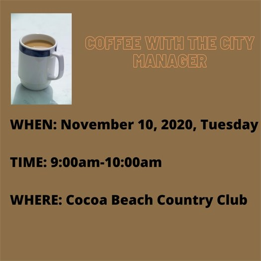 Coffee with the City Manager Nov 10