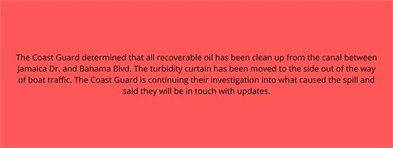 Coast Guard update on spill