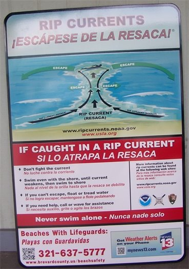 Rip Current warnings