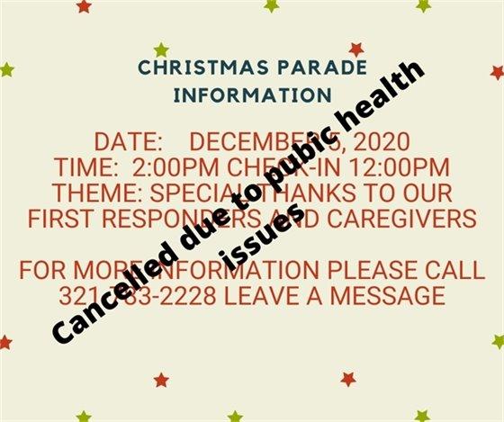 Christmas Parade cancelled