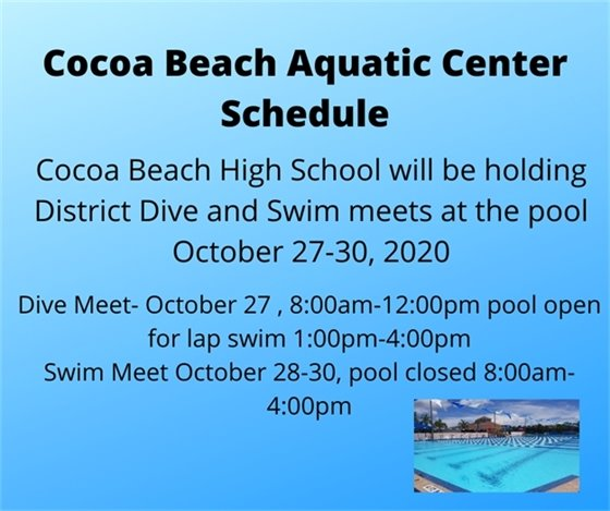 Pool schedule for District Meet