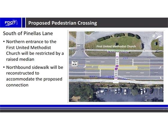 Pinellas Lane mid-block crossing