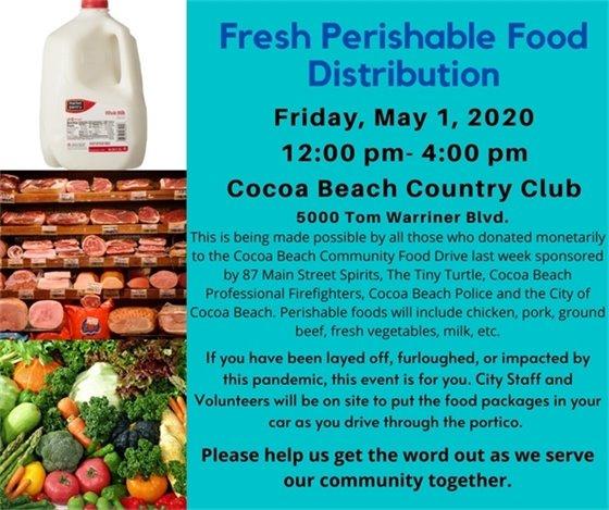 Fresh Food Distribution Friday May 1 noon-4 at CBCC