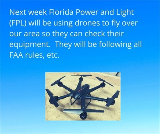 FPL drone checking equipment