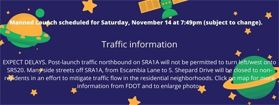 Traffic information for launch