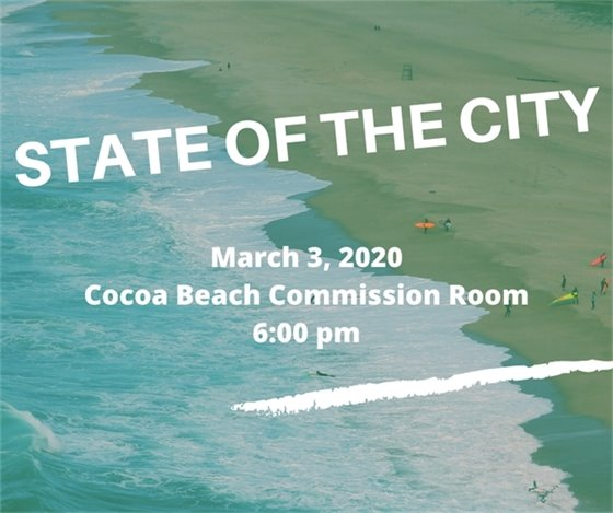 State of the City- March 3 Commission Room 6pm