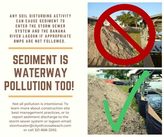 Keep sediment out of the lagoon