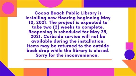 Library closed to install new flooring.