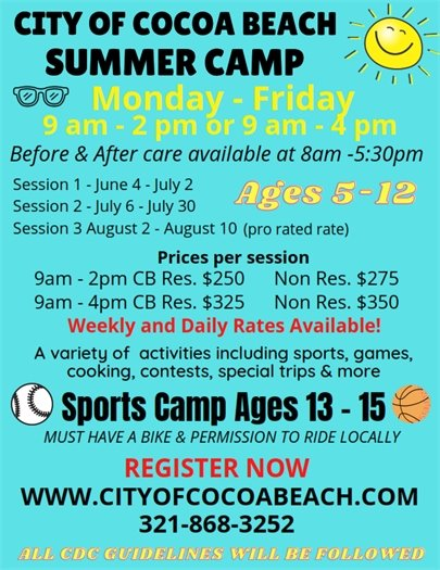 Sign up for Summer Camp