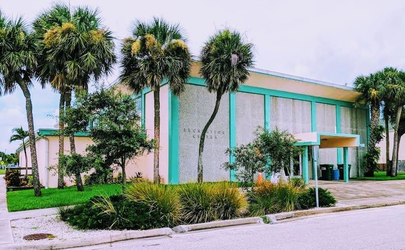 Front of the Recreation Center Building