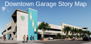 Mock up of downtown garage - story map graphic link